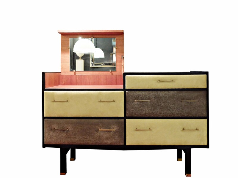 Roger Landault Dresser / Dressing table with five drawers - Regy Created 1961