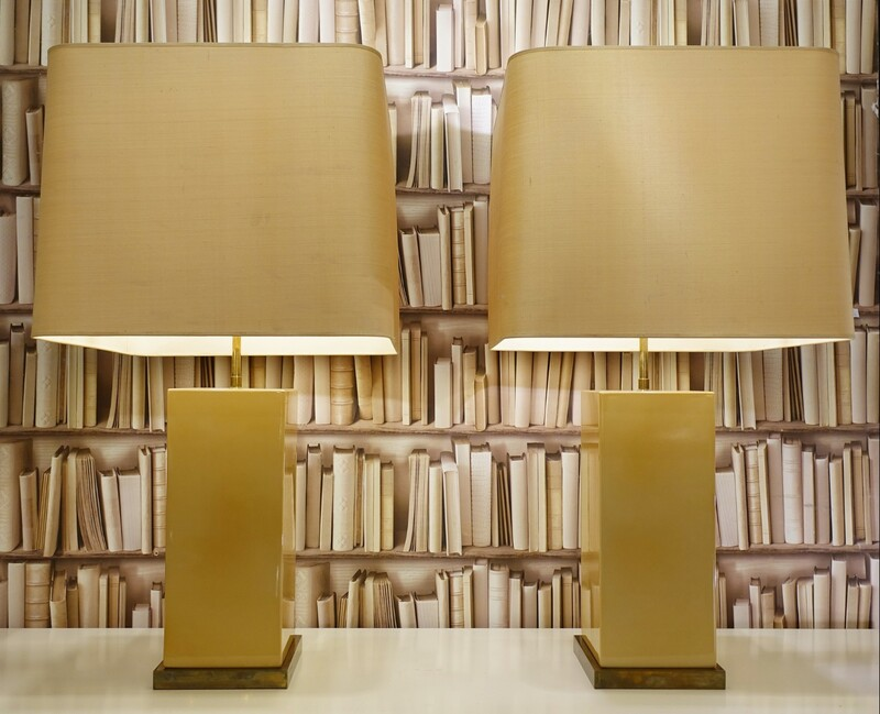 Roger Vanhevel Cream Lacquered Wood table lamps - Belgium
