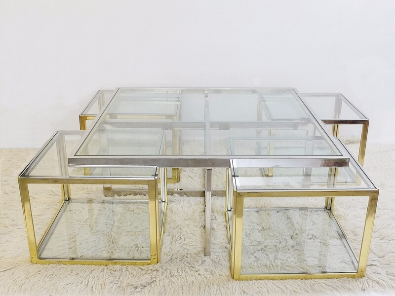 romeo rega coffee table and four occasional tables c. 1970