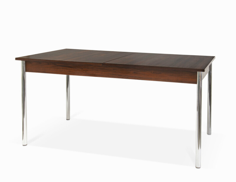 rosewood and chrome Dining Room Table