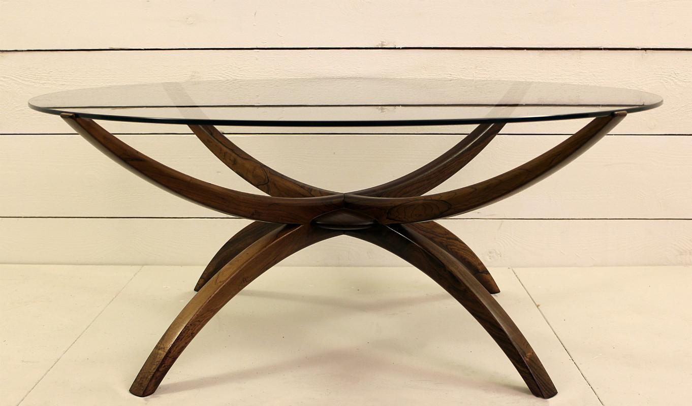 Rosewood Coffee Table Attributed To Vladimir Kagan Desk Table Furniture Via Antica