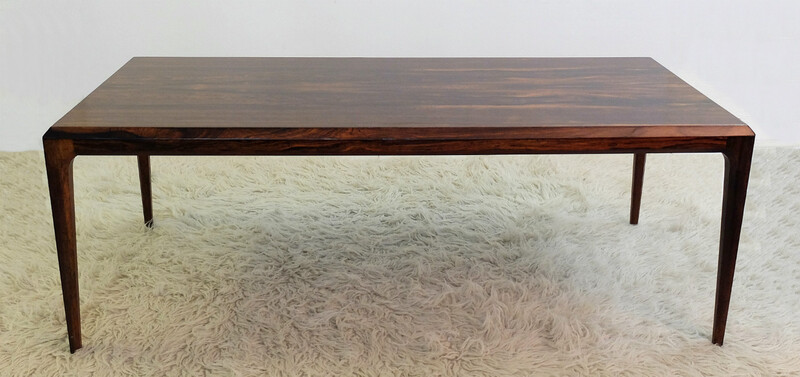rosewood coffee table by J. Andersen, produced by CFC Silkeborg, Denmark, 1960