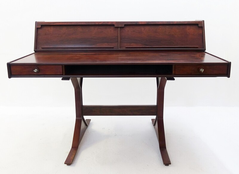 Rosewood Desk by Gianfranco Frattini for Bernini, 1957