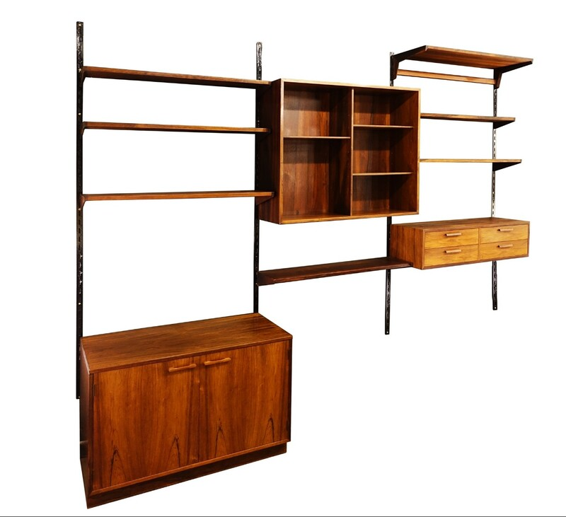 Rosewood wall unit by Kai Kristiansen - 1950s