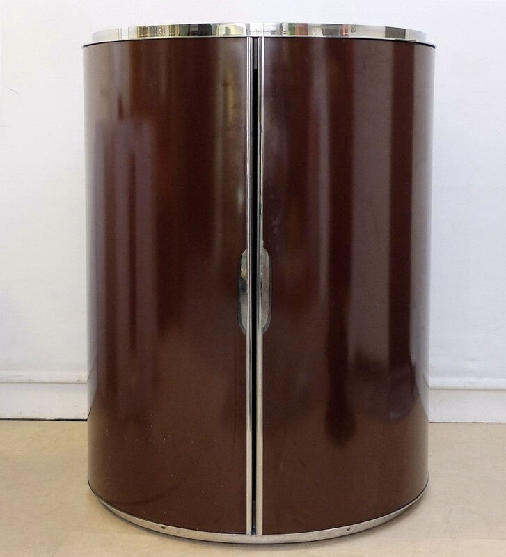 round bar or liquor cabinet from the 1970's