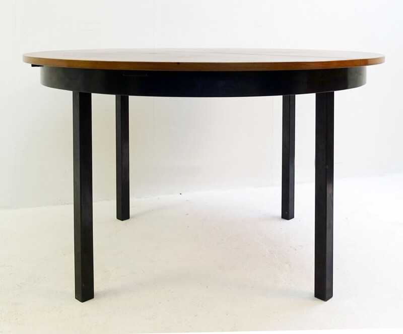 Round Extendable Rosewood Dining Table by Alfred Hendrickx