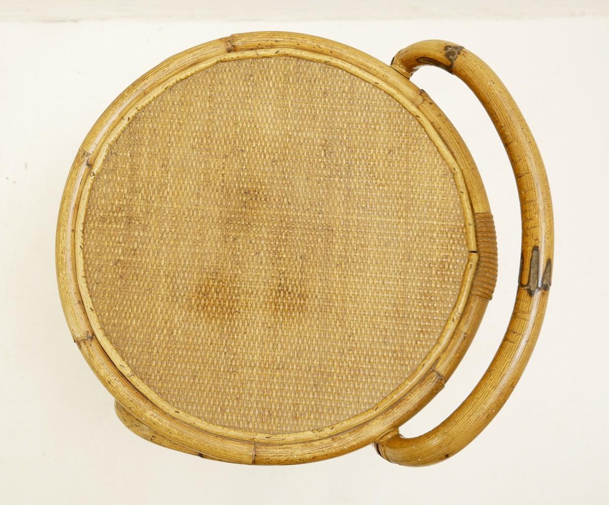Round Rattan Bar Cart Via Antica Recent Added Items European Antiques Decorative