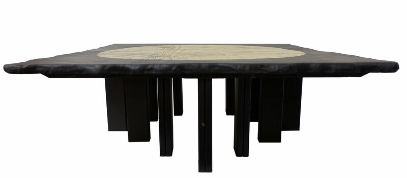 Schist coffee table attr. to Christian Krekels