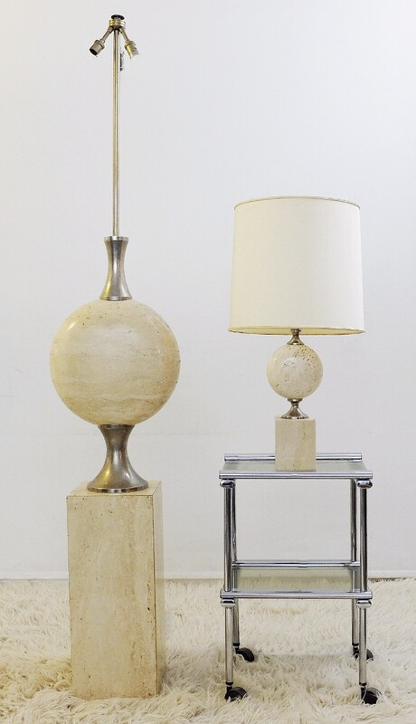 Sculptural Large Lamp Bases By Philippe Barbier For Maison Barbier 1970's
