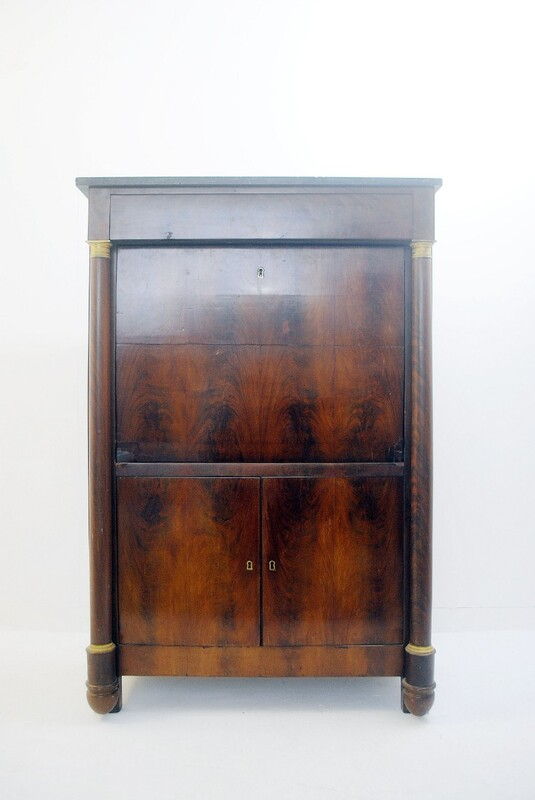 Secretary Cabinet Empire Style in Mahogany, France Early 19th C.