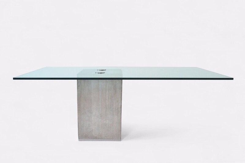 Sergio and Giorgio Saporiti dining table. Italy, c. 1970-80
