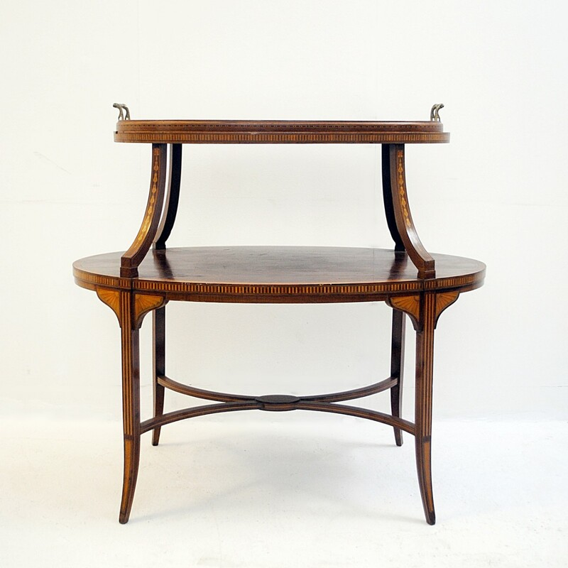Service Table with 2 Trays - English circa 1900