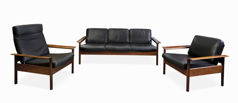 Set Of 1 Sofa + 2 Armchairs