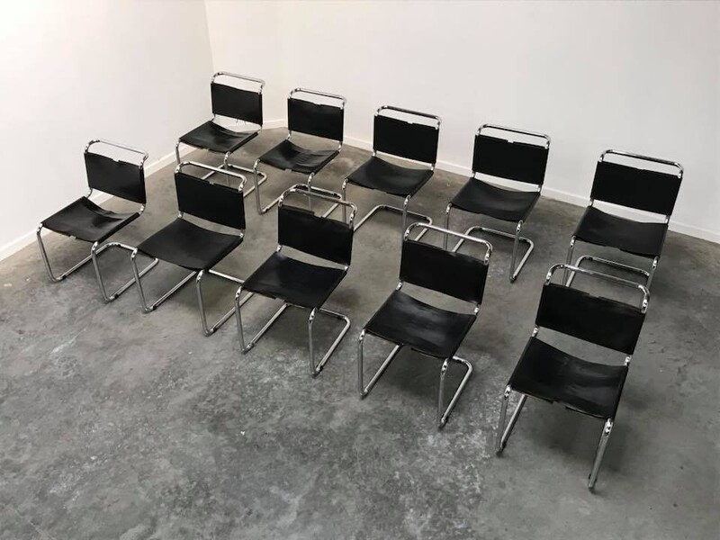 set of 10 chairs B33 by Marcel Breuer for Dino Gavina - 1950s