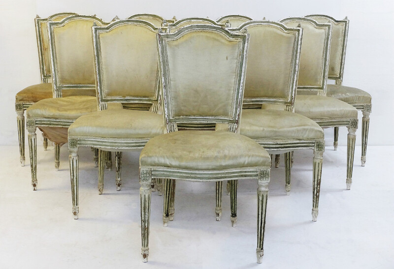 Set Of 10 Chairs In The Style Of Louis XVI