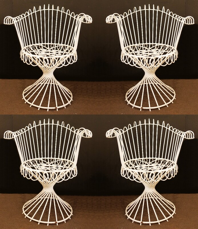 Set of 4 'Antheor' Iron Chairs by Mathieu Mategot