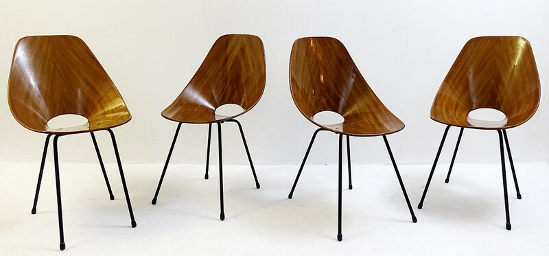 Set of 4 Medea Chairs by Vittorio Nobili for Fratelli Tagliabue