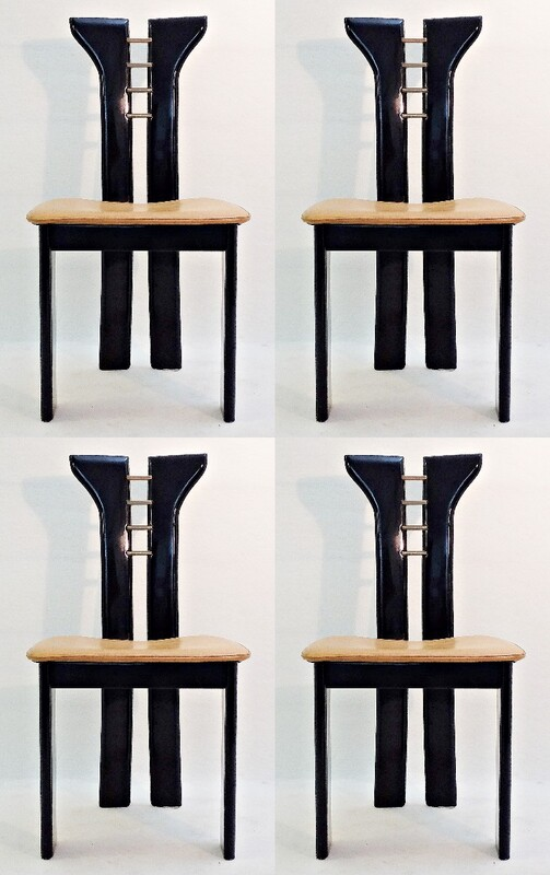 Set of 4 Scarpa chairs