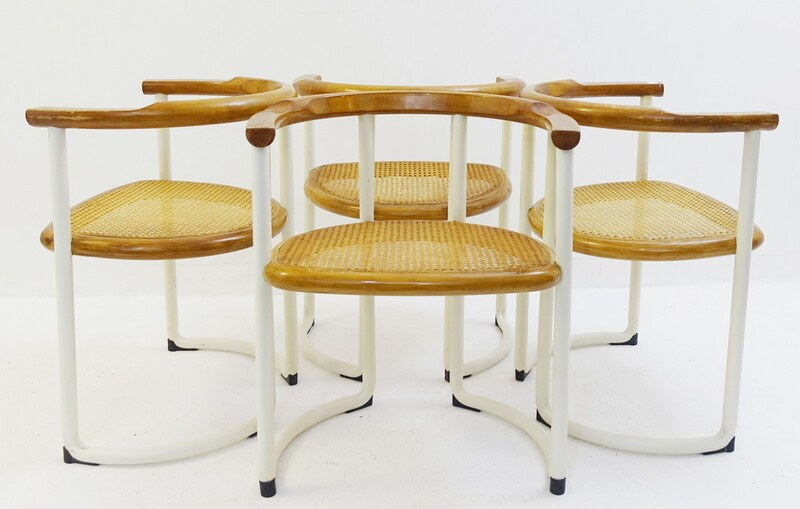 set of 4 tito agnoli chairs