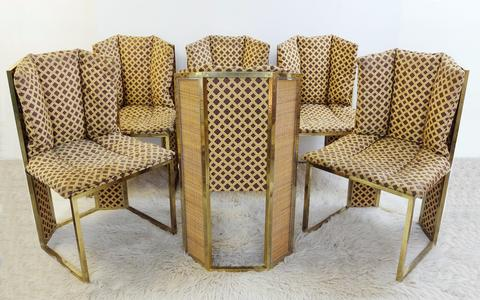 Set of 6 dining chairs attributed to Gabriella Crespi - 1975