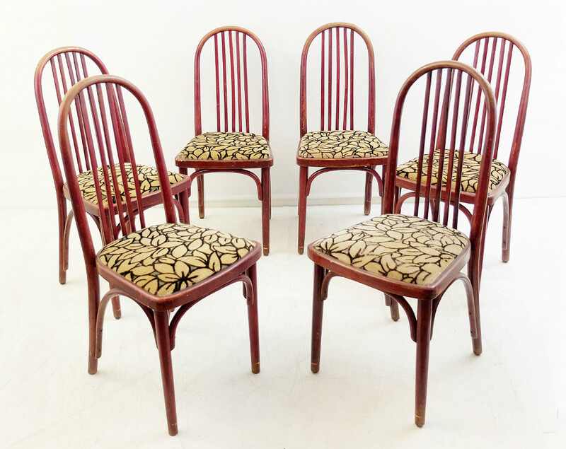 Set of 6 J.Hoffmann chairs