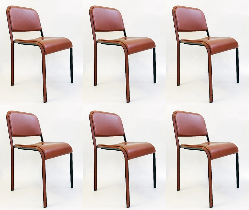 Set of 6 Poltrona Frau Dining Chair