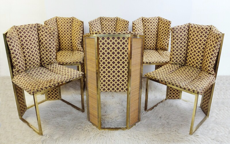 Set of 6 talian Dining Chairs Romeo Rega