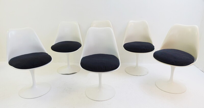 Set Of 6 TulipChairs By Eero Saarinen For Knoll - 1960S