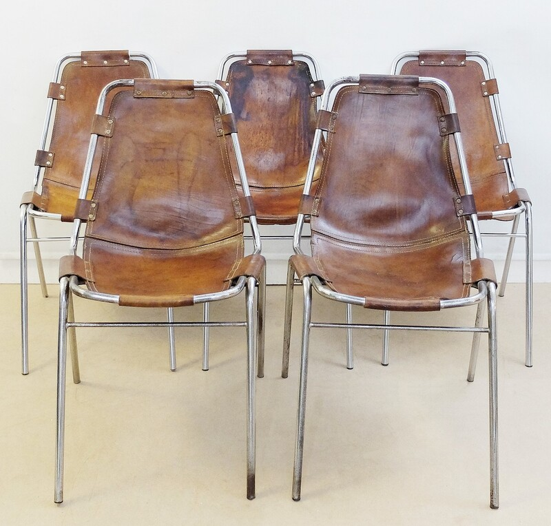 Set of five Les Arcs Chairs by Charlotte Perriand