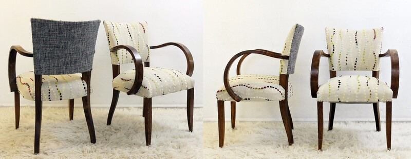 Set of Four Bridge Armchairs - New Upholstery