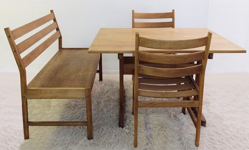 Set of Kurt Ostervig - Dining Table with Bench and 2 Chairs