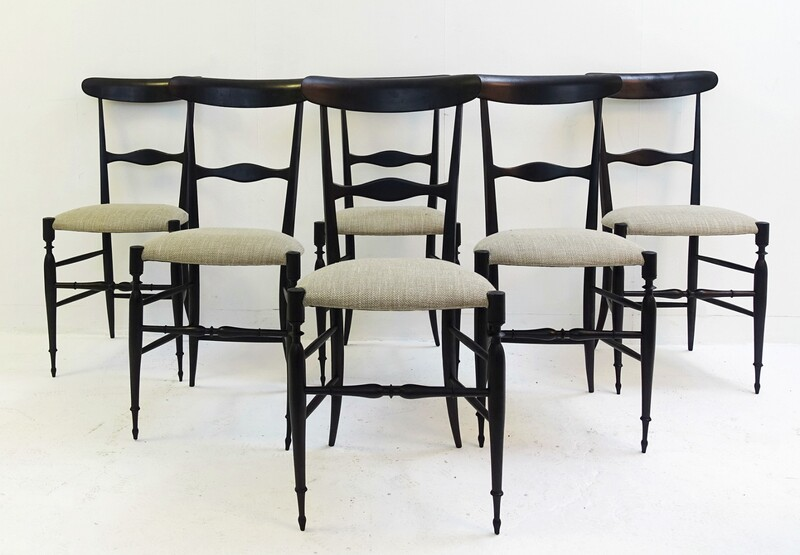 set of six chairs by Rinaldo Levaggi