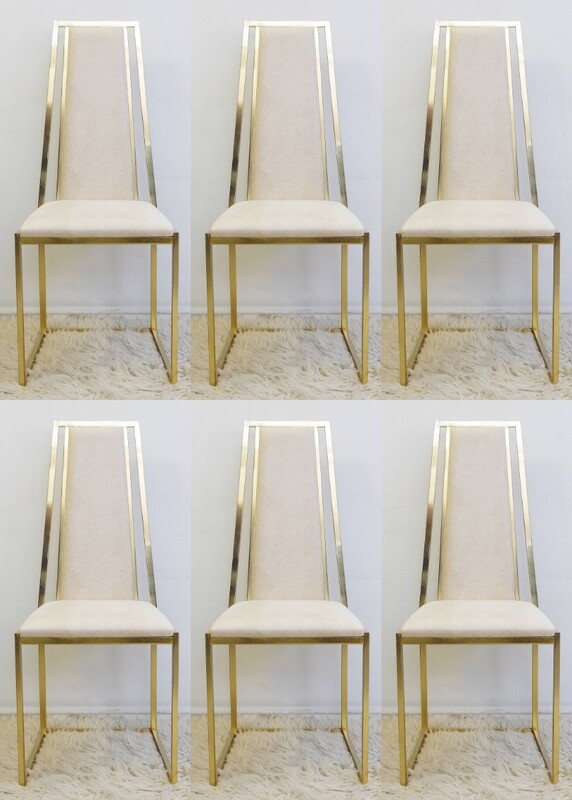 set of six italian chairs - New Upholstery by Dedar
