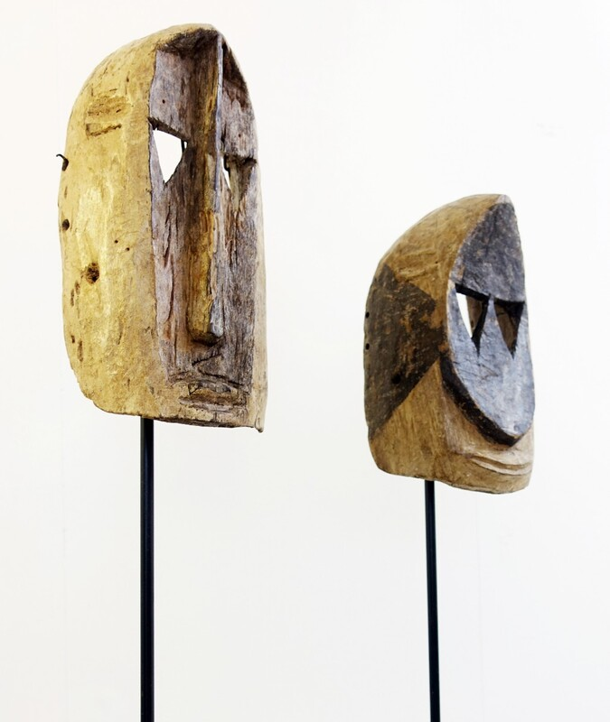 set of two African masks