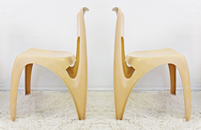 Side Chairs by Preben Fabricius for Interplast, 1970s - 2 available