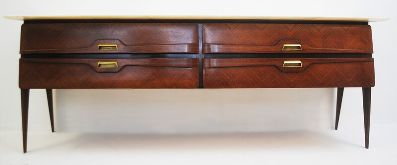 Sideboard with Top in Marble, Italy circa 1950's