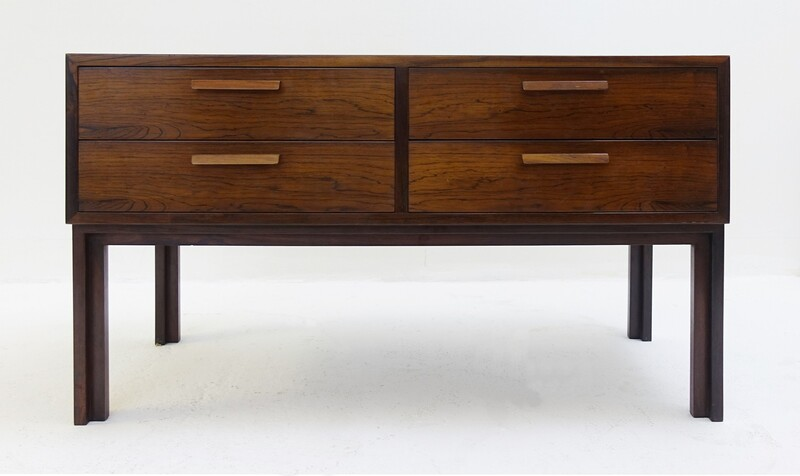 Small Scandinavian roswood Sideboard By Kai KRISTIANSEN