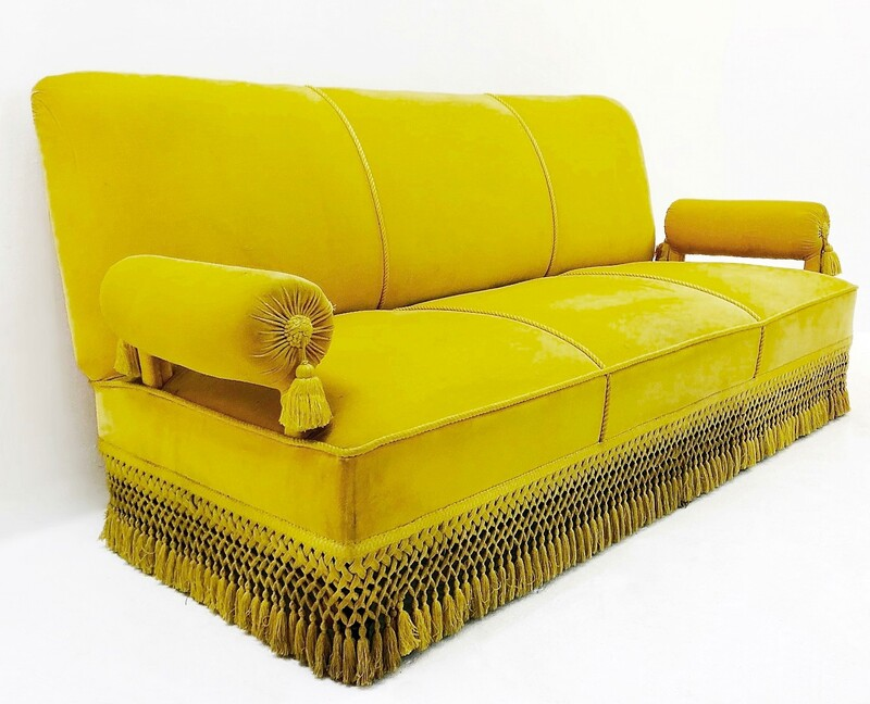 Sofa 3 Seating with Trimmings Napoleon III, France 19th C.