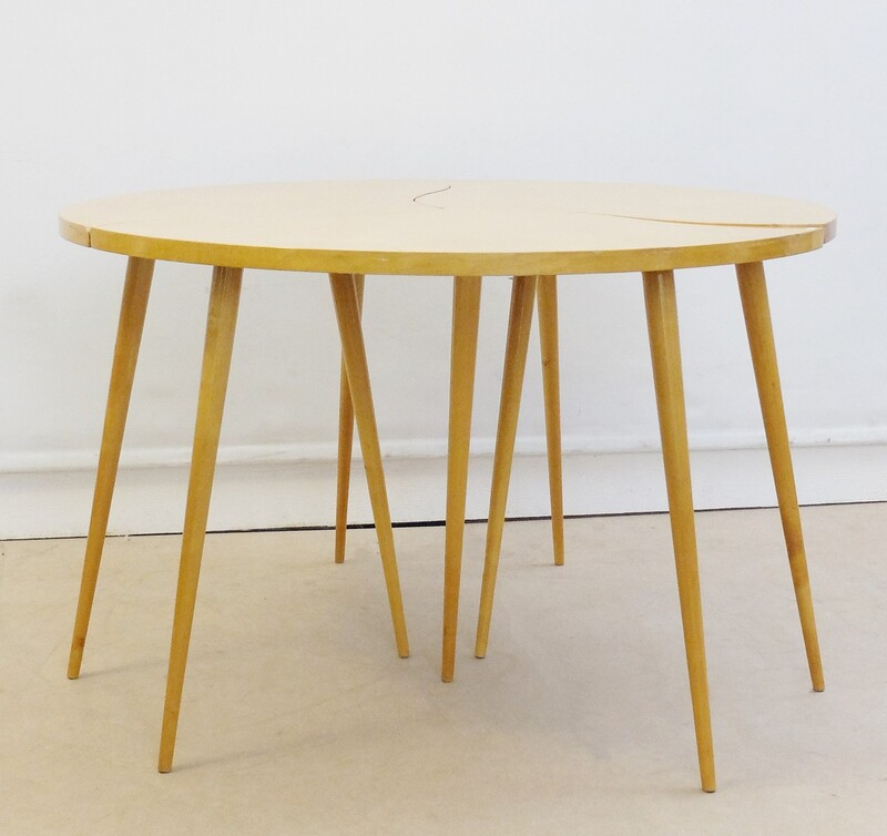 Sofa table consisting of three small tables