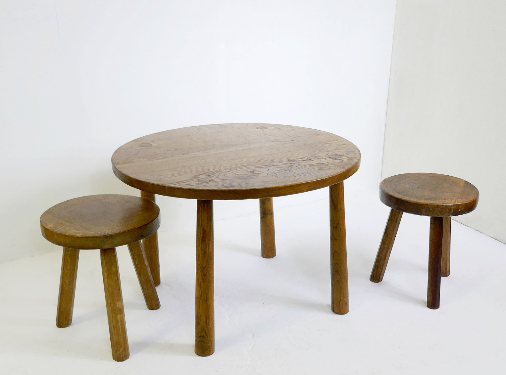 Solid Wood Small Round Table Stools Sold Separately Stools Search Results European Antiques Decorative