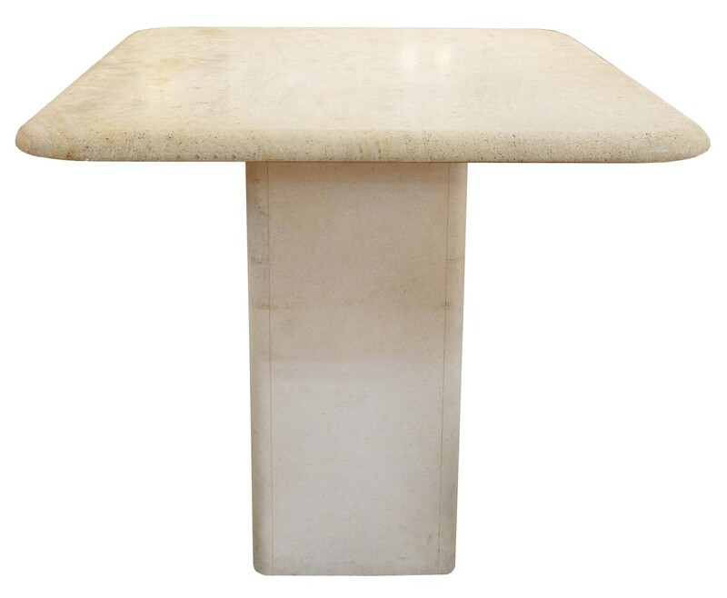 Square Travertine Table