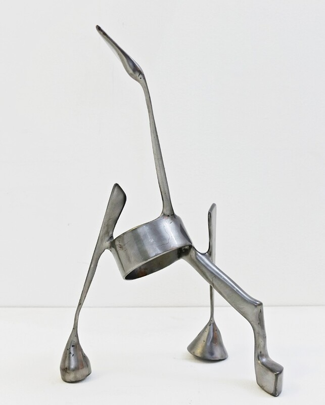 Stephane Vuilleumier Steel Sculpture - signed - Switzerland