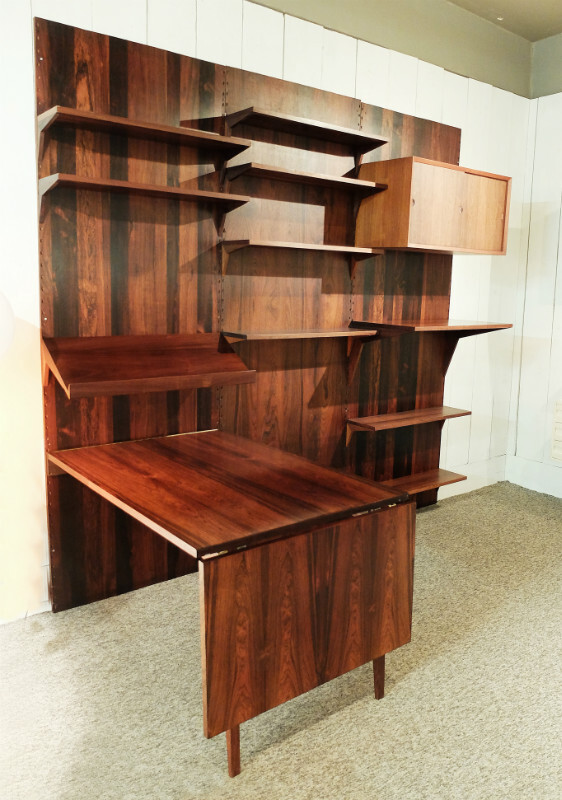 system cado wall unit in rosewood by poul cadovius