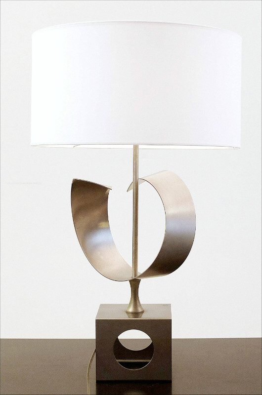 table lamp in brushed aluminium att to Monnet
