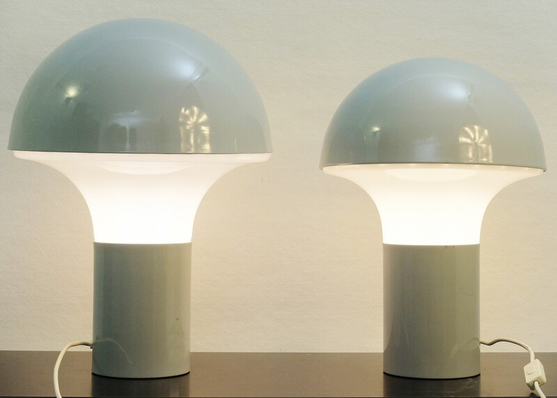 Table lamps, in glass and metal, Italy 1970s - 5 large & 2 medium available