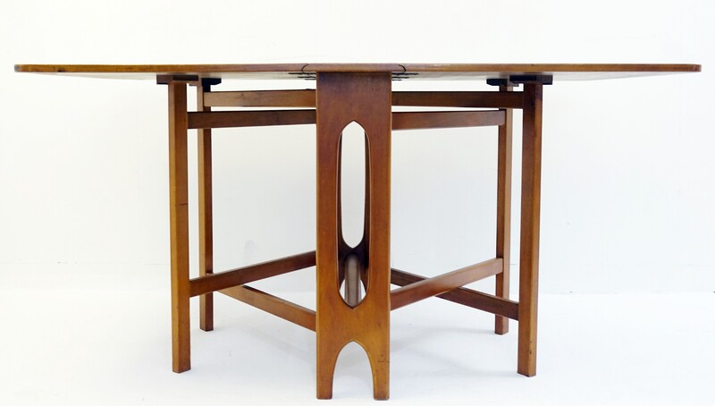 Teak and beech dining table by Bendt WINGE for Klepp Mobel from the 60s