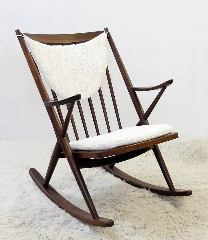 Teak rocking chair by frank reenskaug for bramin