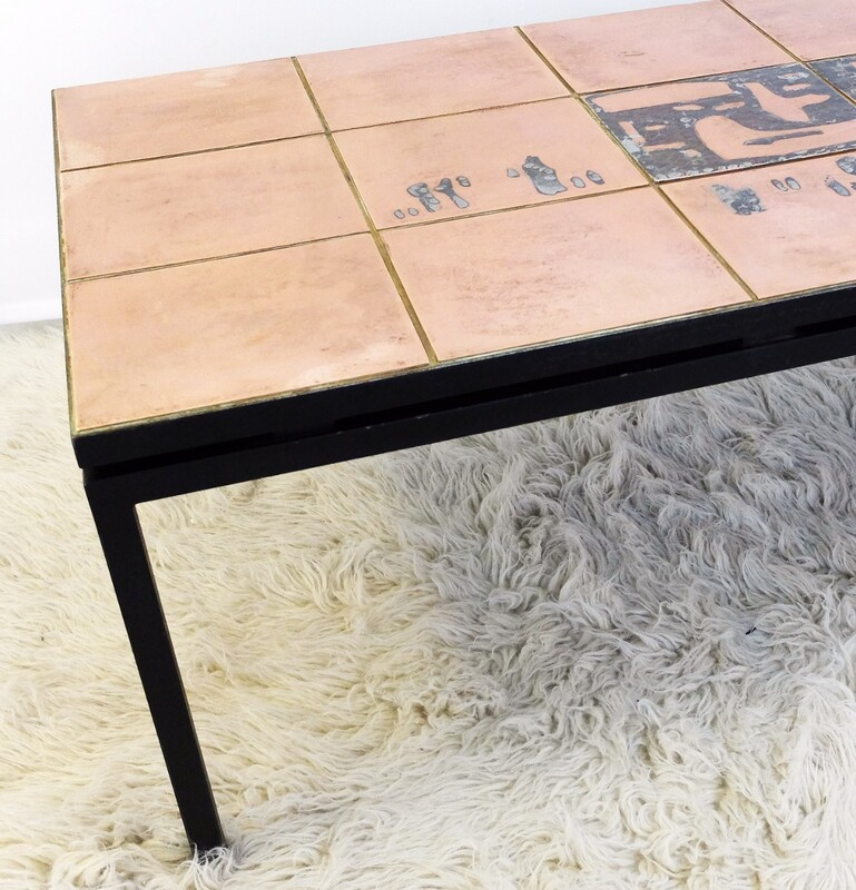 Tile Copper Coffee Table
