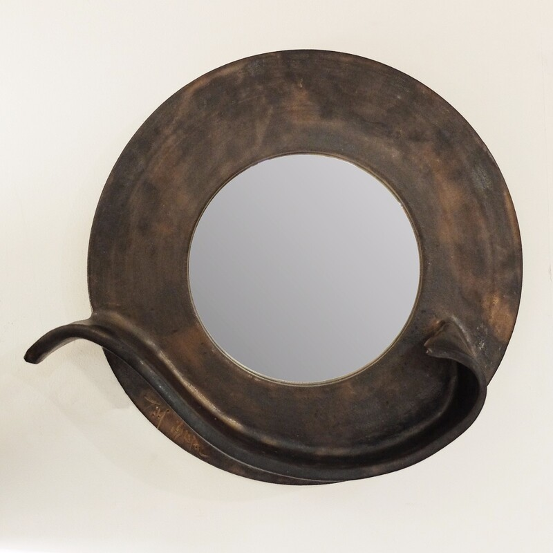 Tim Isaac  ceramic round mirror