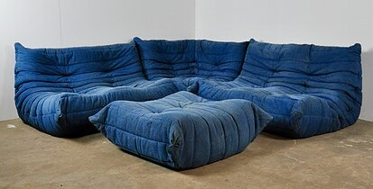 Togo Sofa Set by Michel Ducaroy for Ligne Roset, 1973